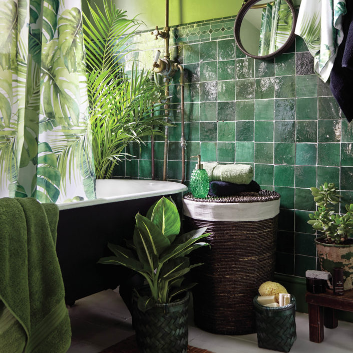 Tropical Image credit- New Voyager bathroom collection by Dunelm